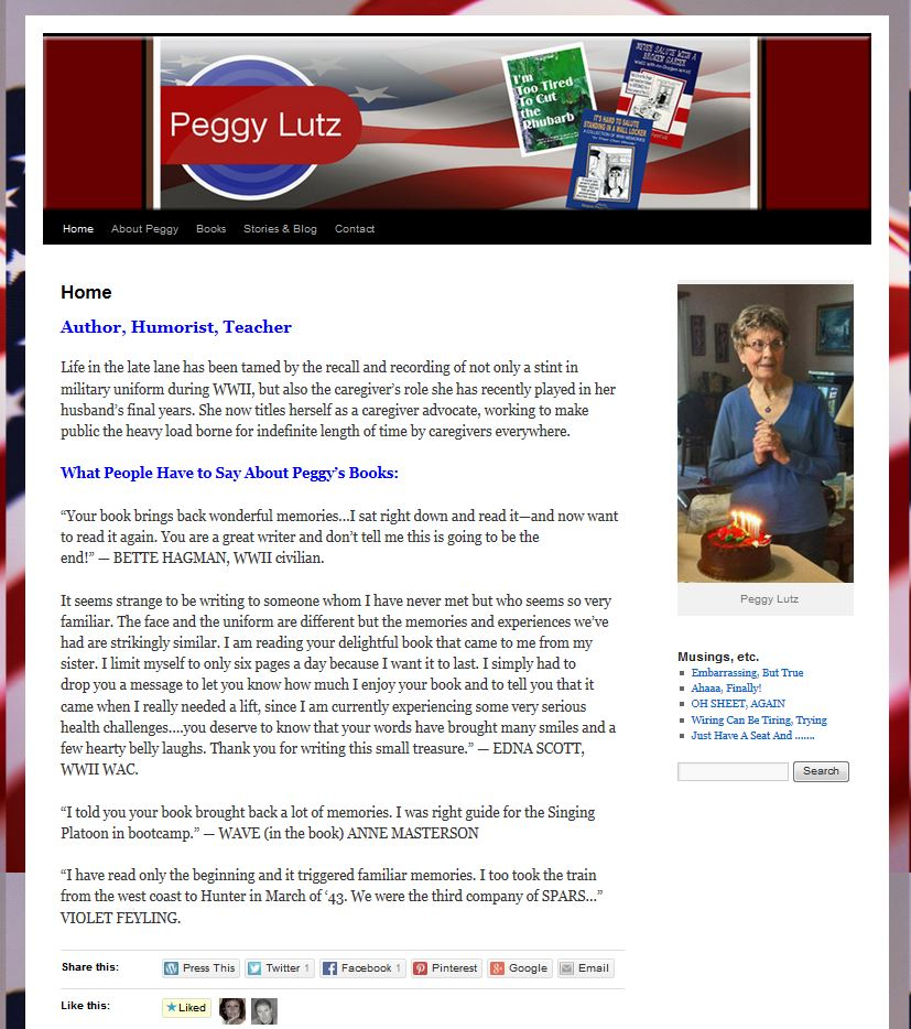 Peggy Lutz - Author
